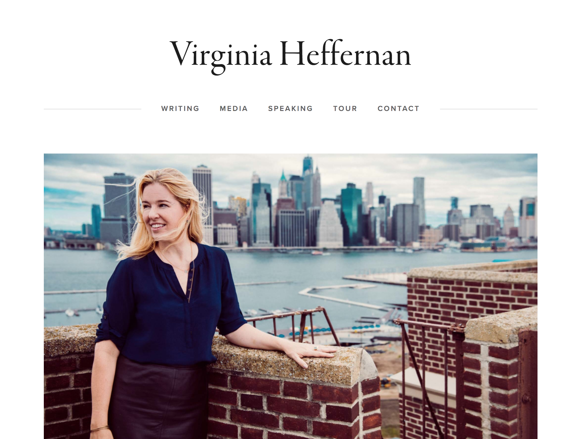 Research and website design for author Virginia Heffernan