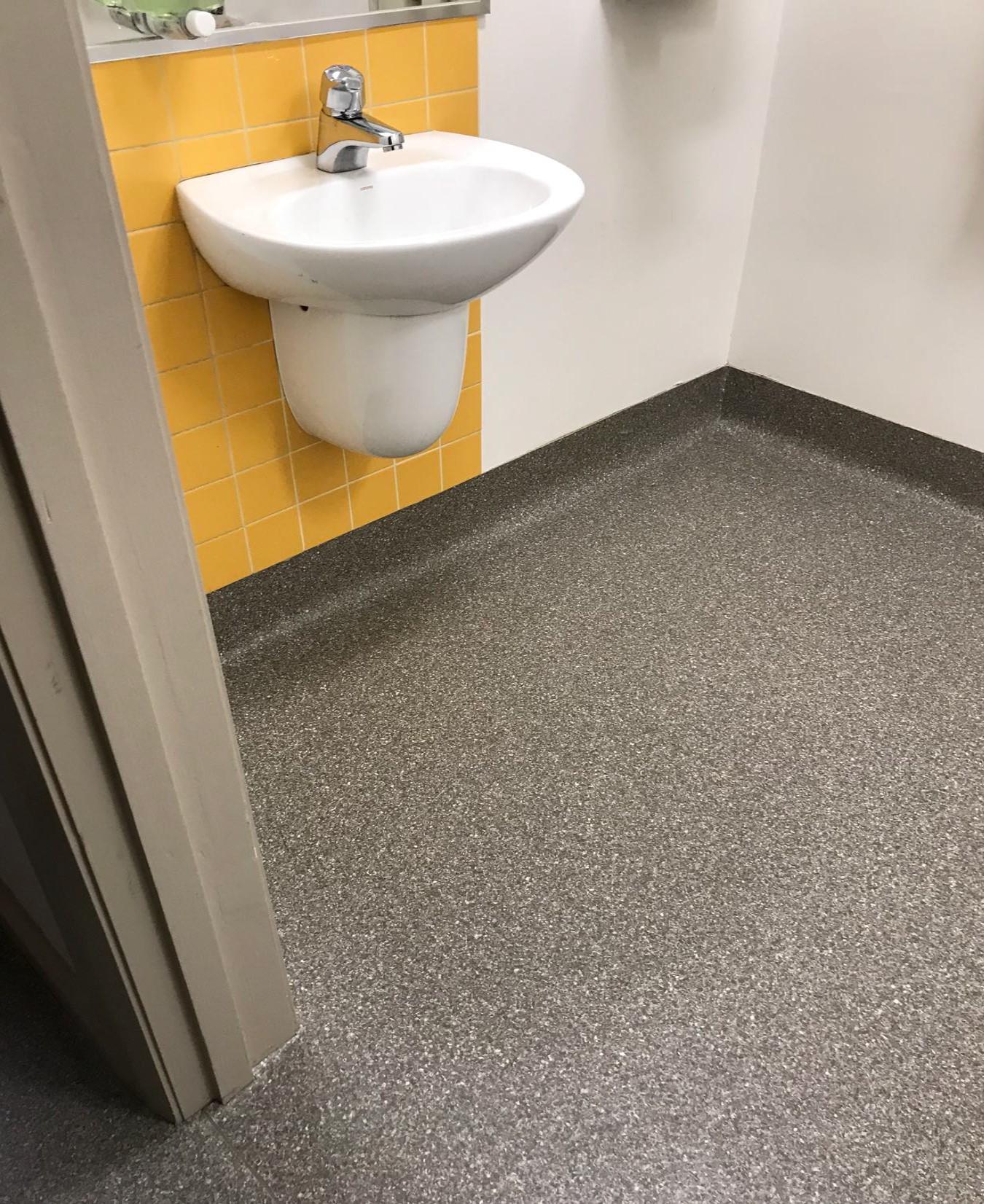 Commercial bathroom flooring