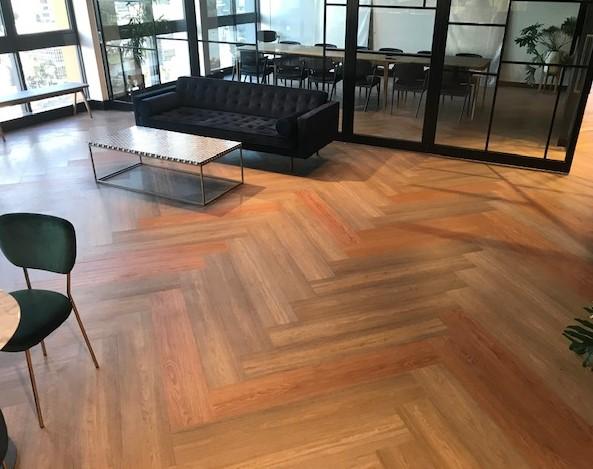 Commercial office vinyl planks
