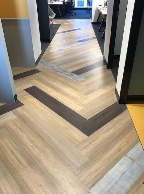 Commercial vinyl plank install