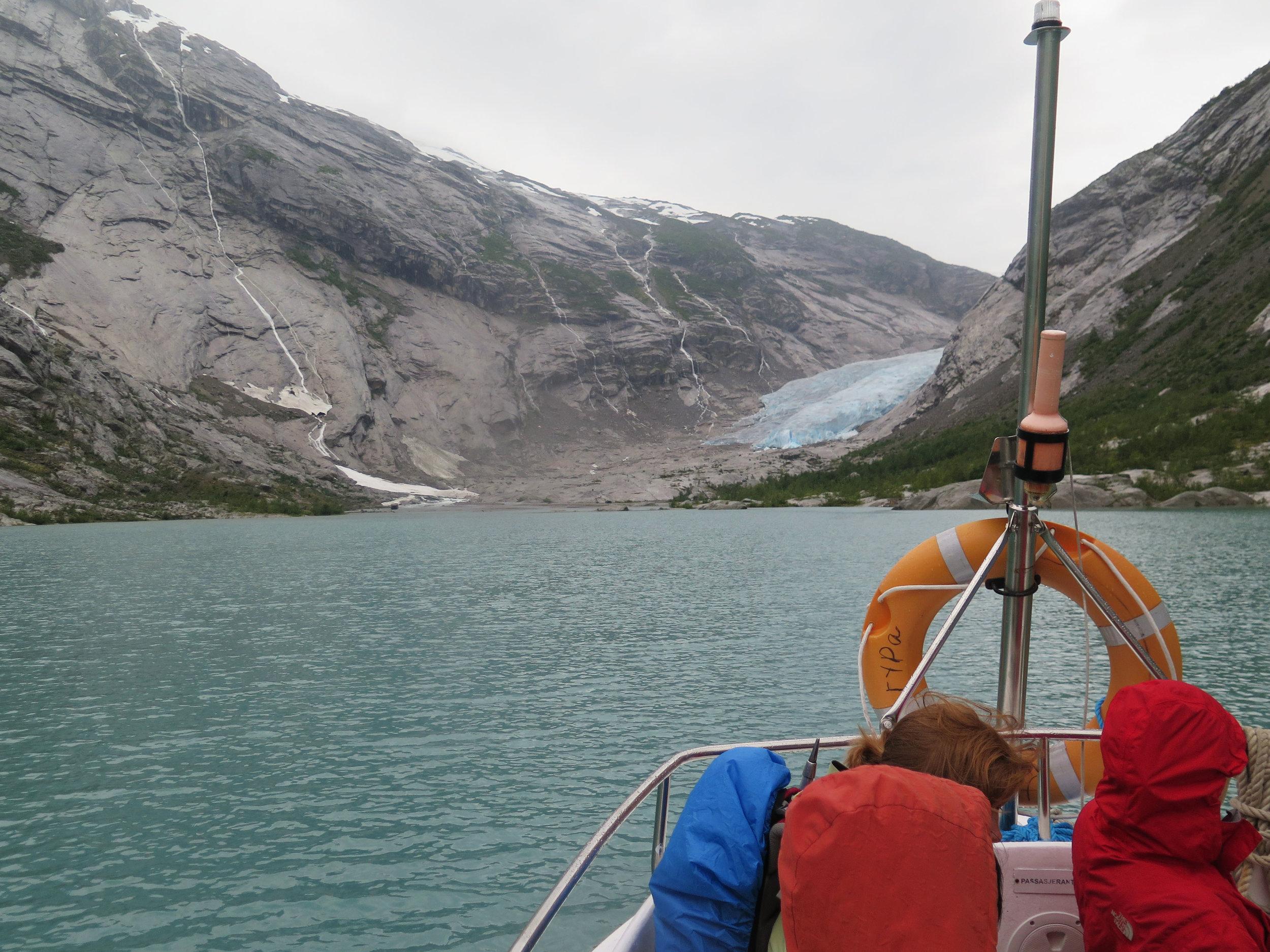 boat ride over to the glacier