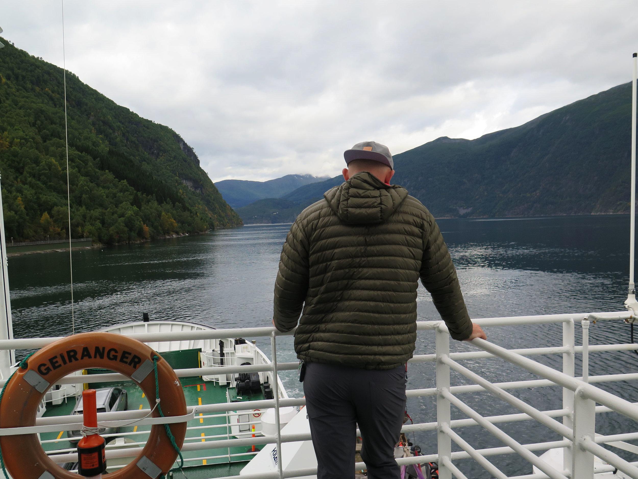 Ferry towards Trondheim