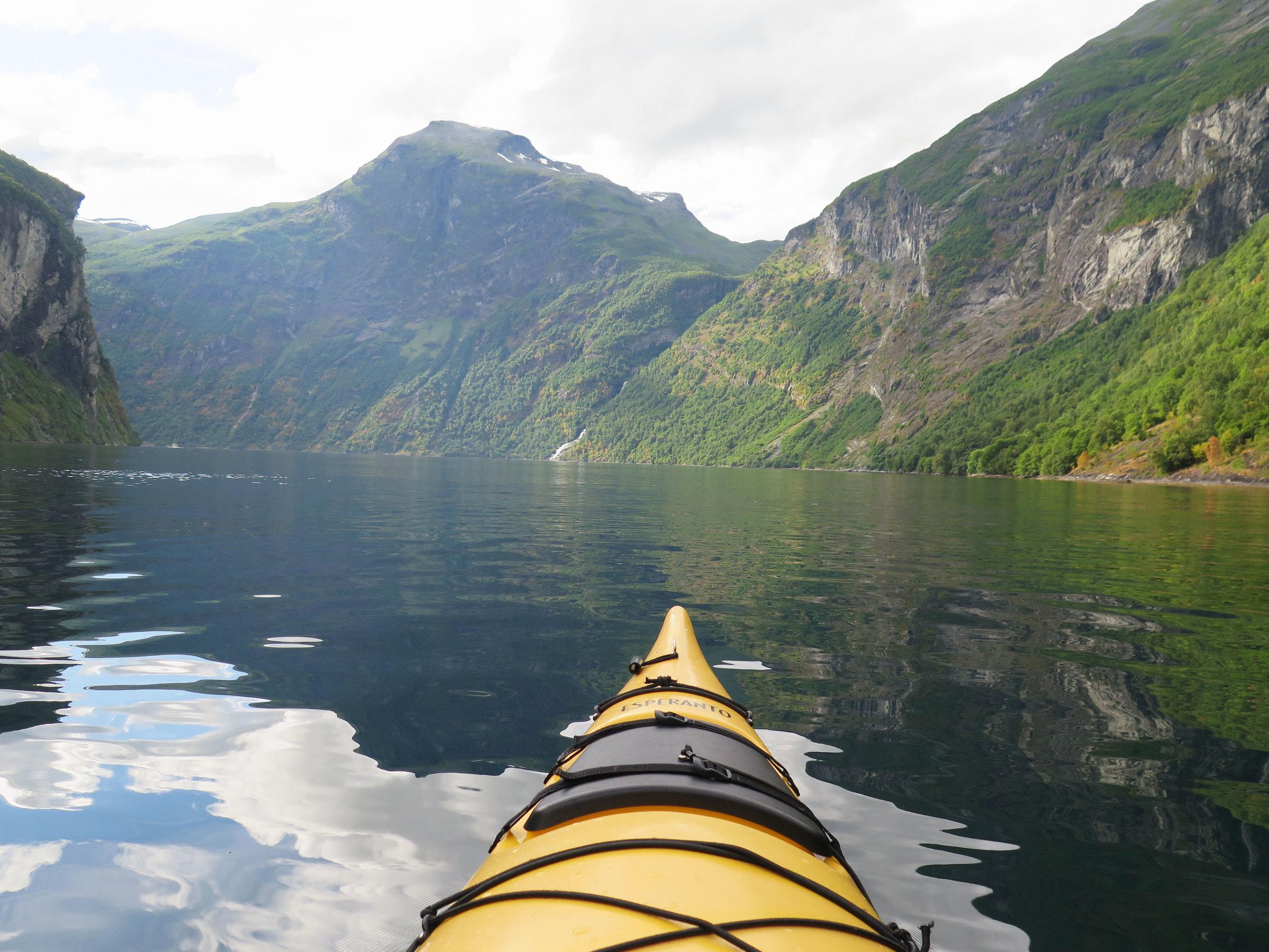 Kayaking in Geiranger