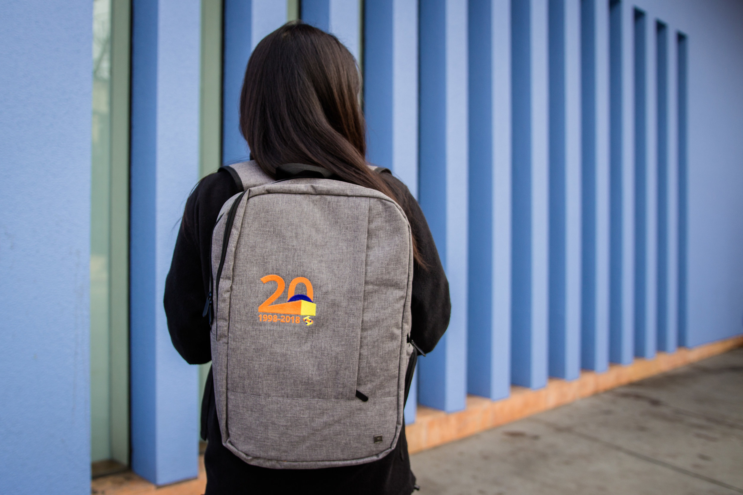 Embroidered backpacks were gifted to staff during our annual holiday party.