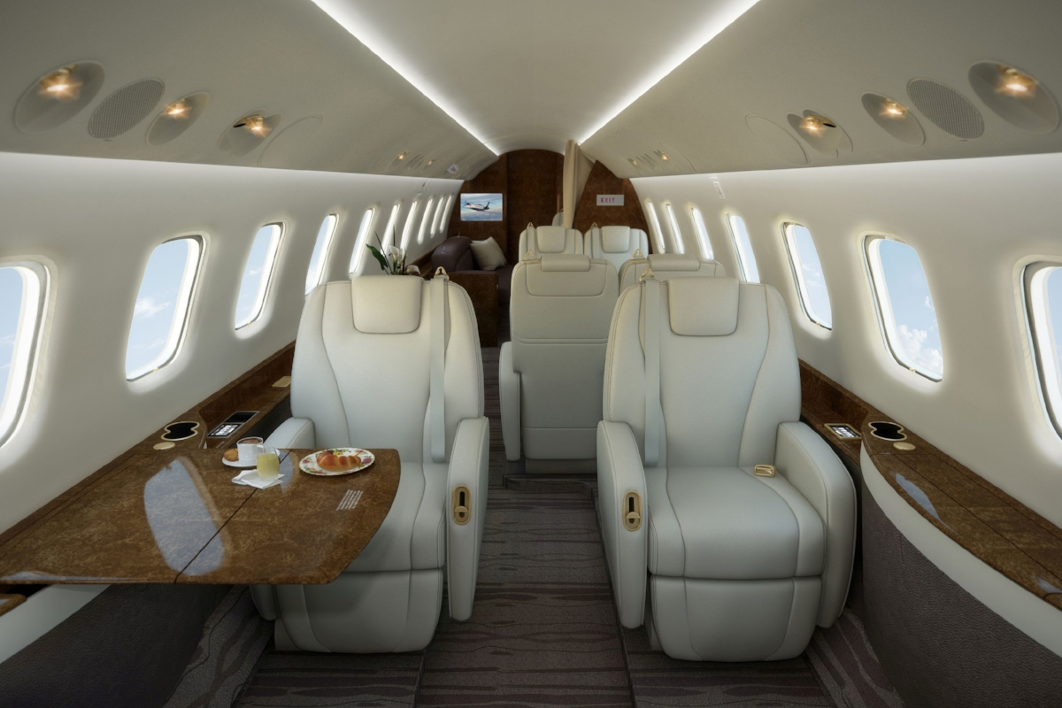 The Embraer Legacy offers passengers the ultimate in flying comfort