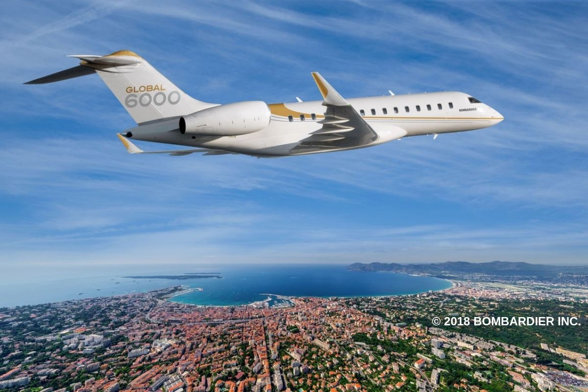 Charter the Bombardier Global 6000 private jet