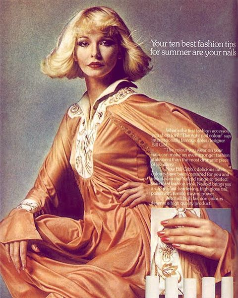 10 best fashion tips are your nails. 💅#1974.  #beautytips #nails #orange #wildoleander #bushwick #1970s #vintageadvertising