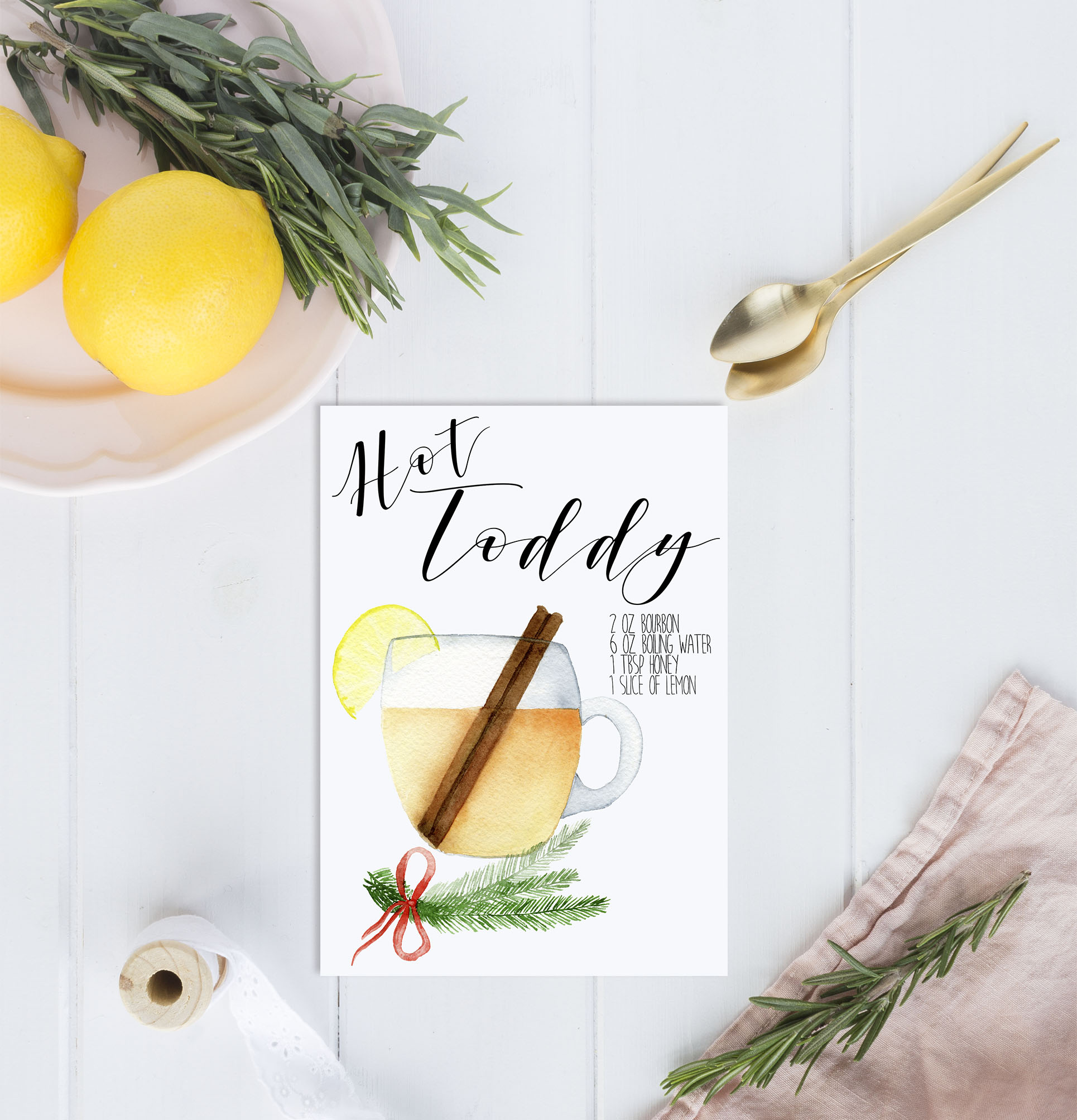 Hot Toddy Bar Print