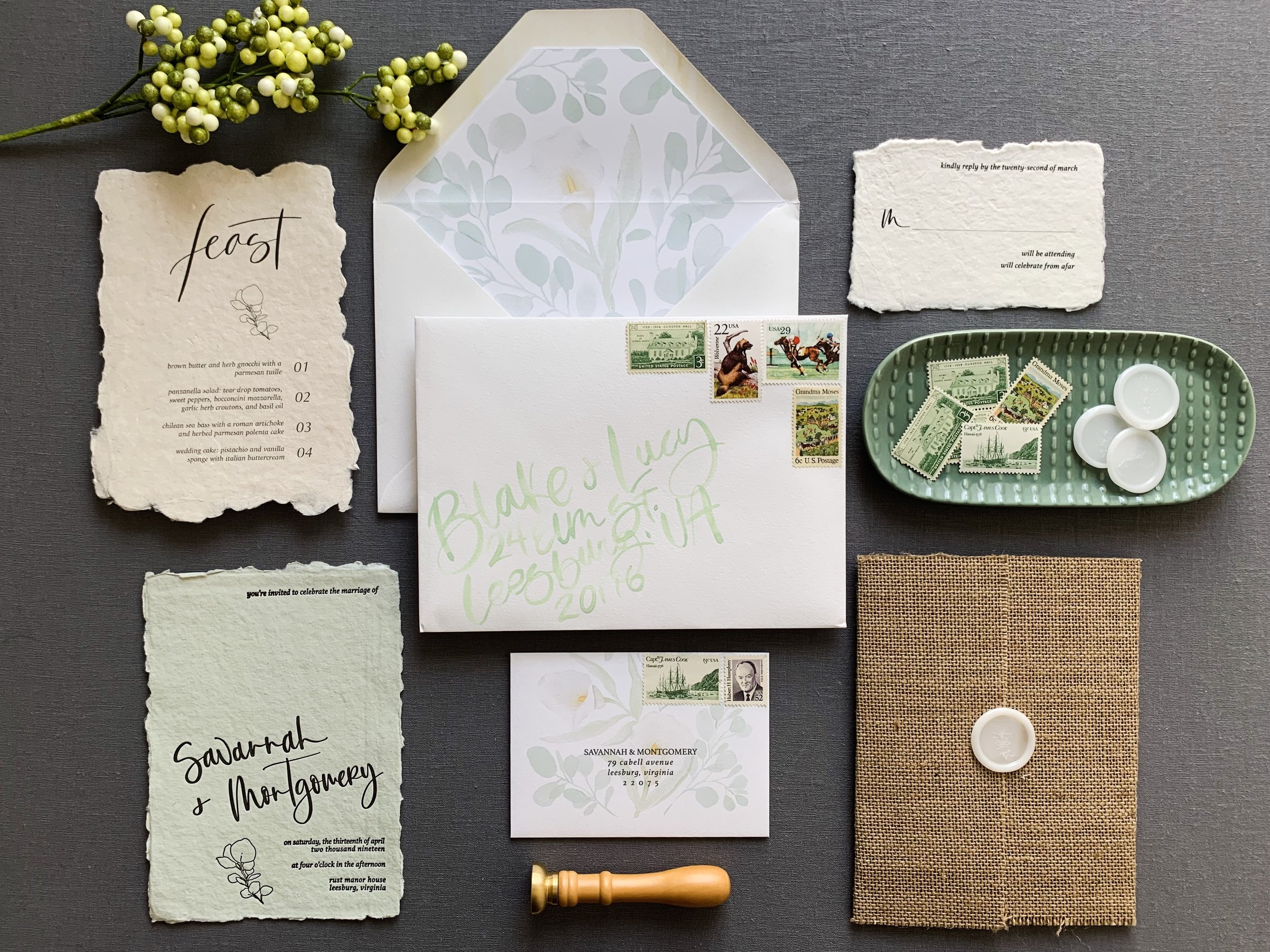 Custom Garden Wedding Invitations