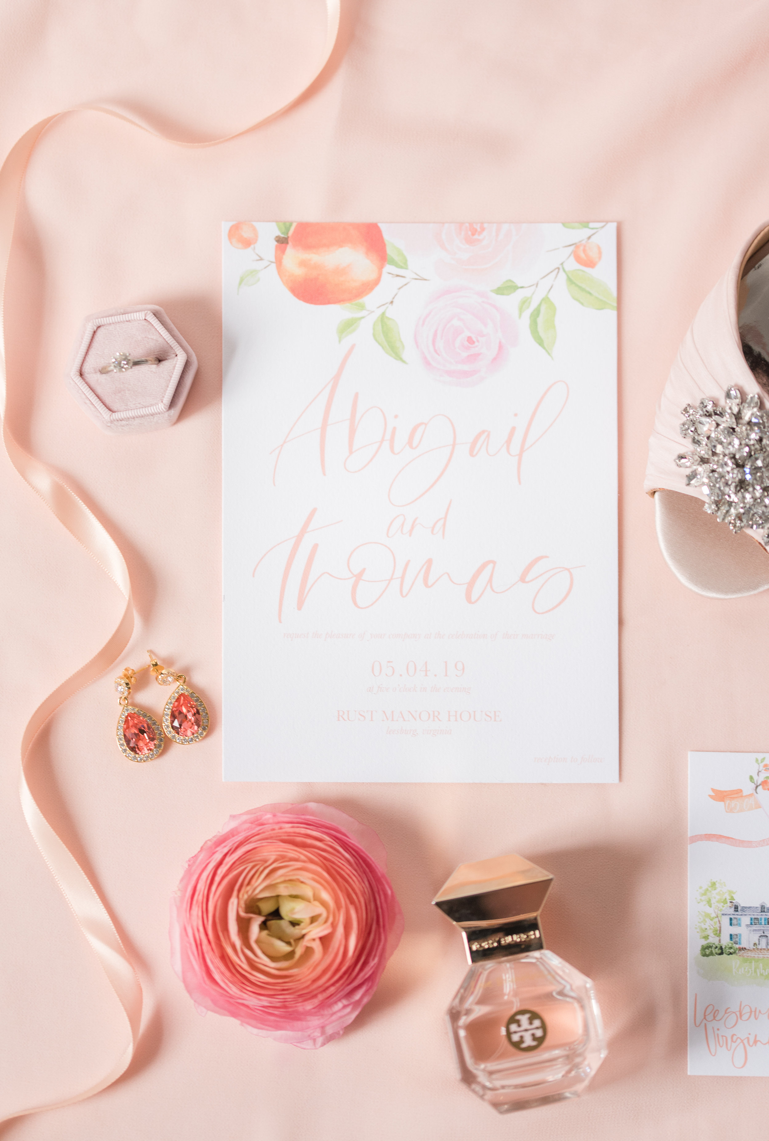 Peachy Wedding Invitations