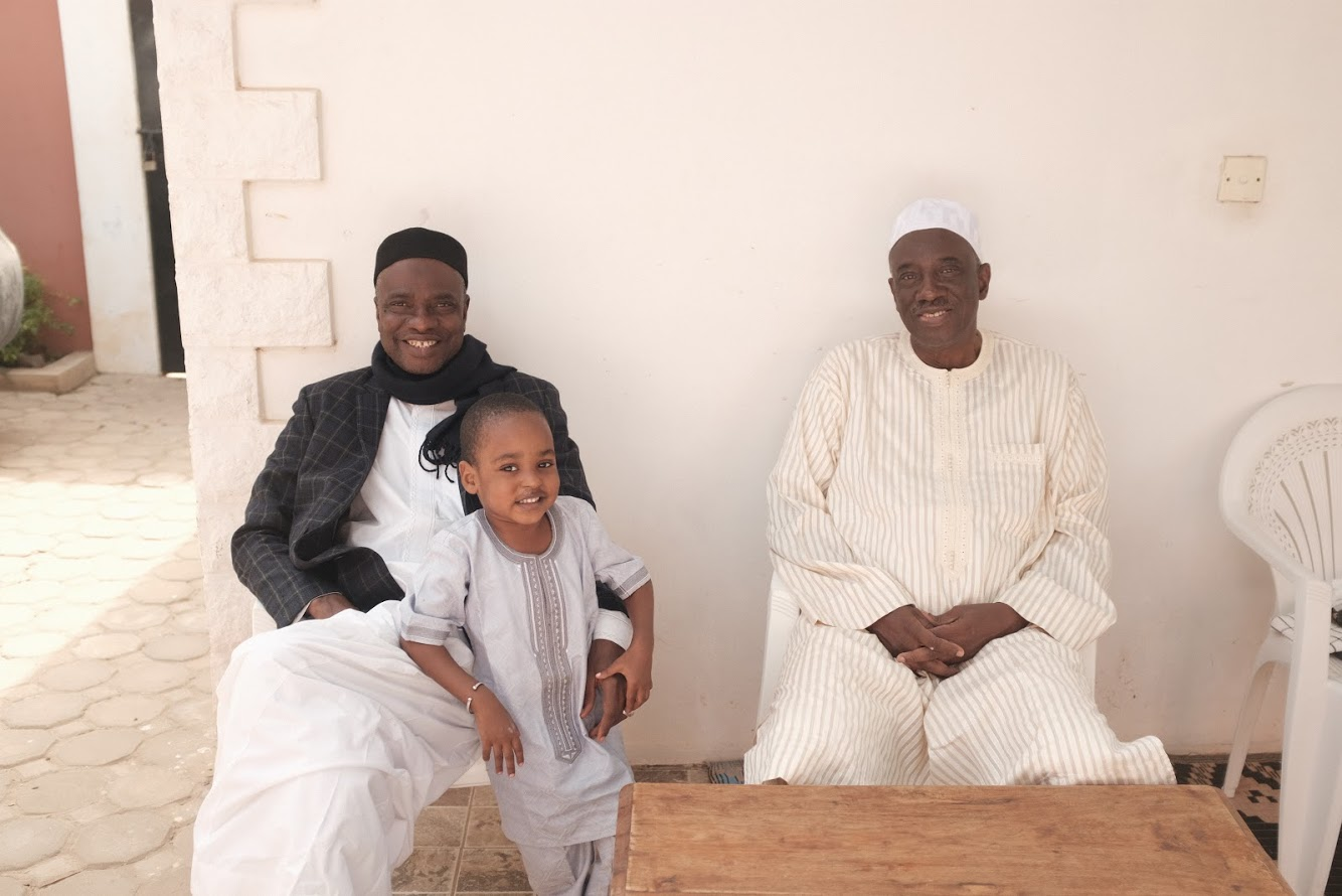 Dad, Uncle Tijan & Little Muhammed at home