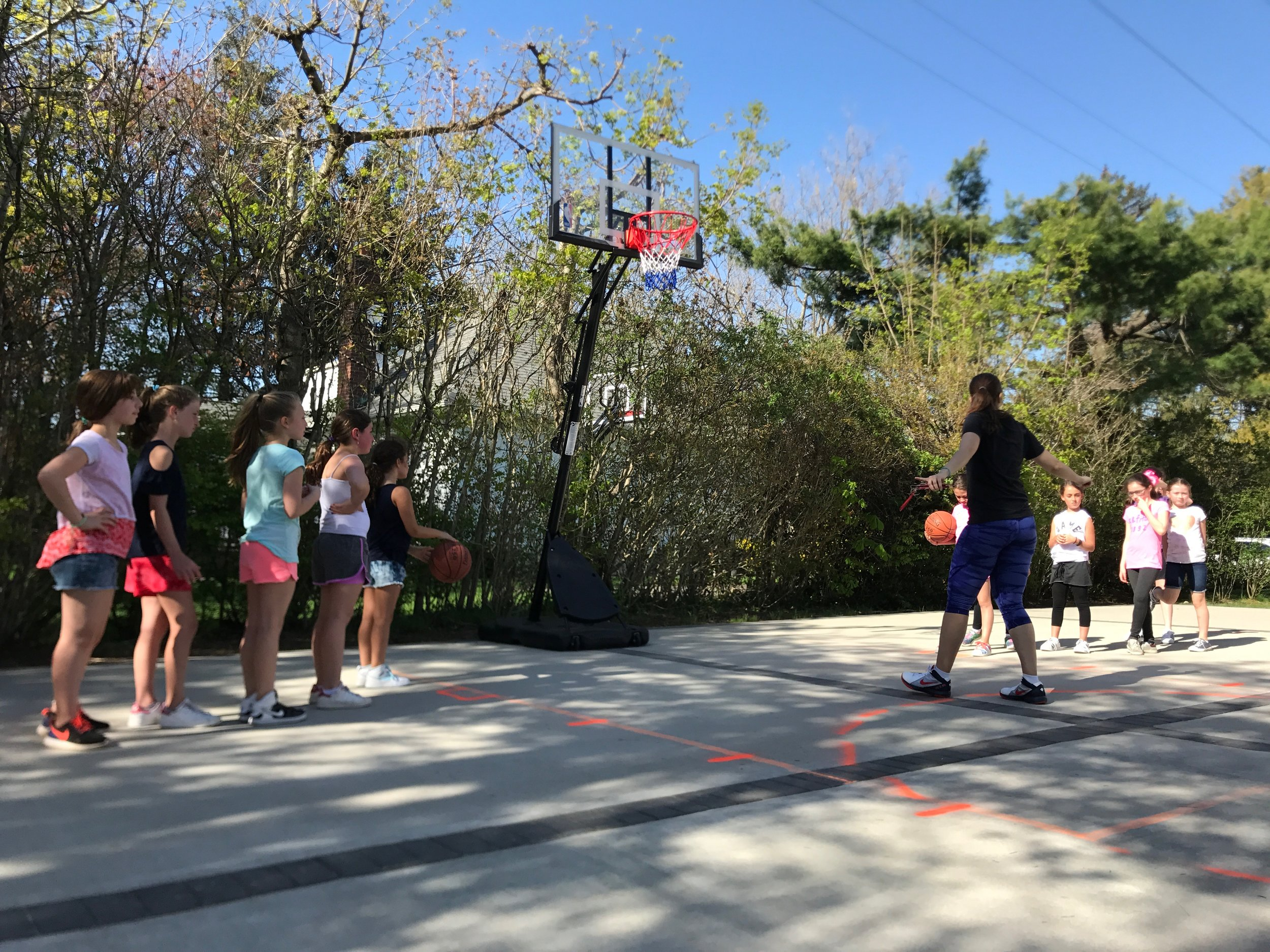 Outdoor Basketball Clinics -
