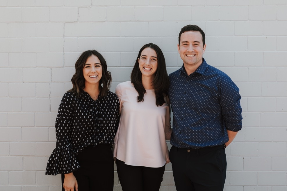 From left to right; Dr Grace Cumming, Dr Emily Bazeley and Dr Mason Bazeley