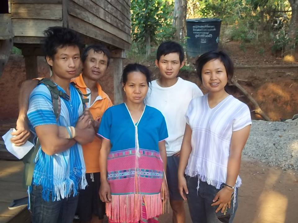 One of our college students with her family. She will be the first woman in her family to receive an education beyond elementary school.