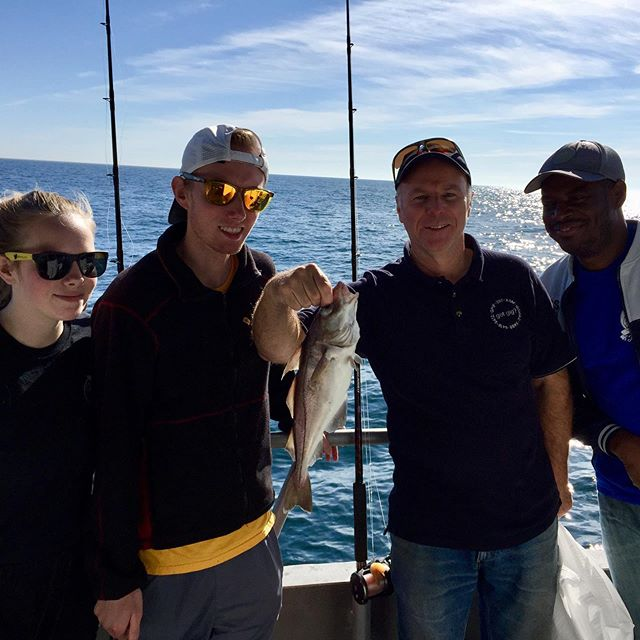 Big thanks to the Nagle family for a perfect employee fishing trip two weekends ago! Weather was perfect and we had an amazing view on the way back to the dock! #tbt #ohthatsfresh #plymouth #fishing @captainjohnboats