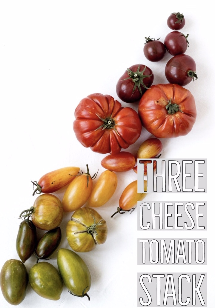 Cherry tomatoes are great for this dish as it has a blend of sweet and acidic notes that adds to the flavour