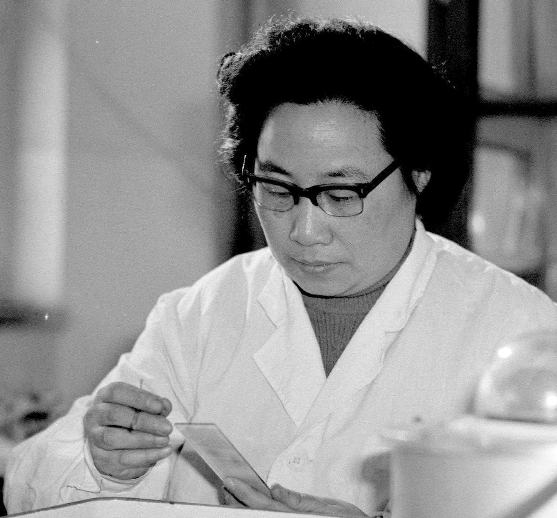 Dr. Tu Youyou, circa 1980s.  Image: Yang Wumin/Xinhua, via Associated Press