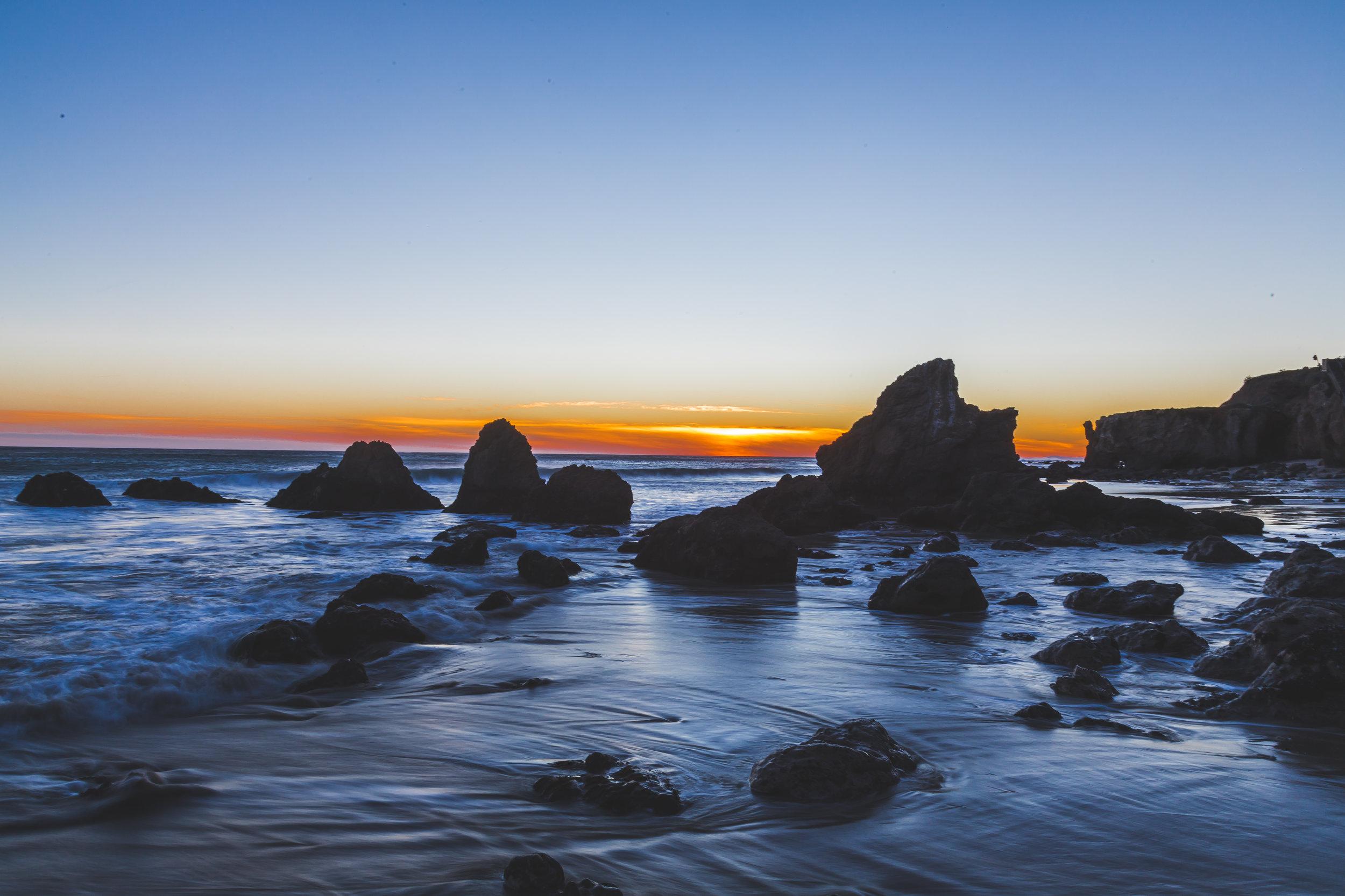 Sunset El Matador Beach
