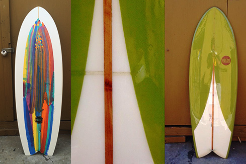 Upcycled Surfboard - Fish Shape