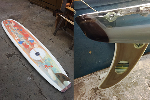 Upcycled Surfboard - Longboard Shape