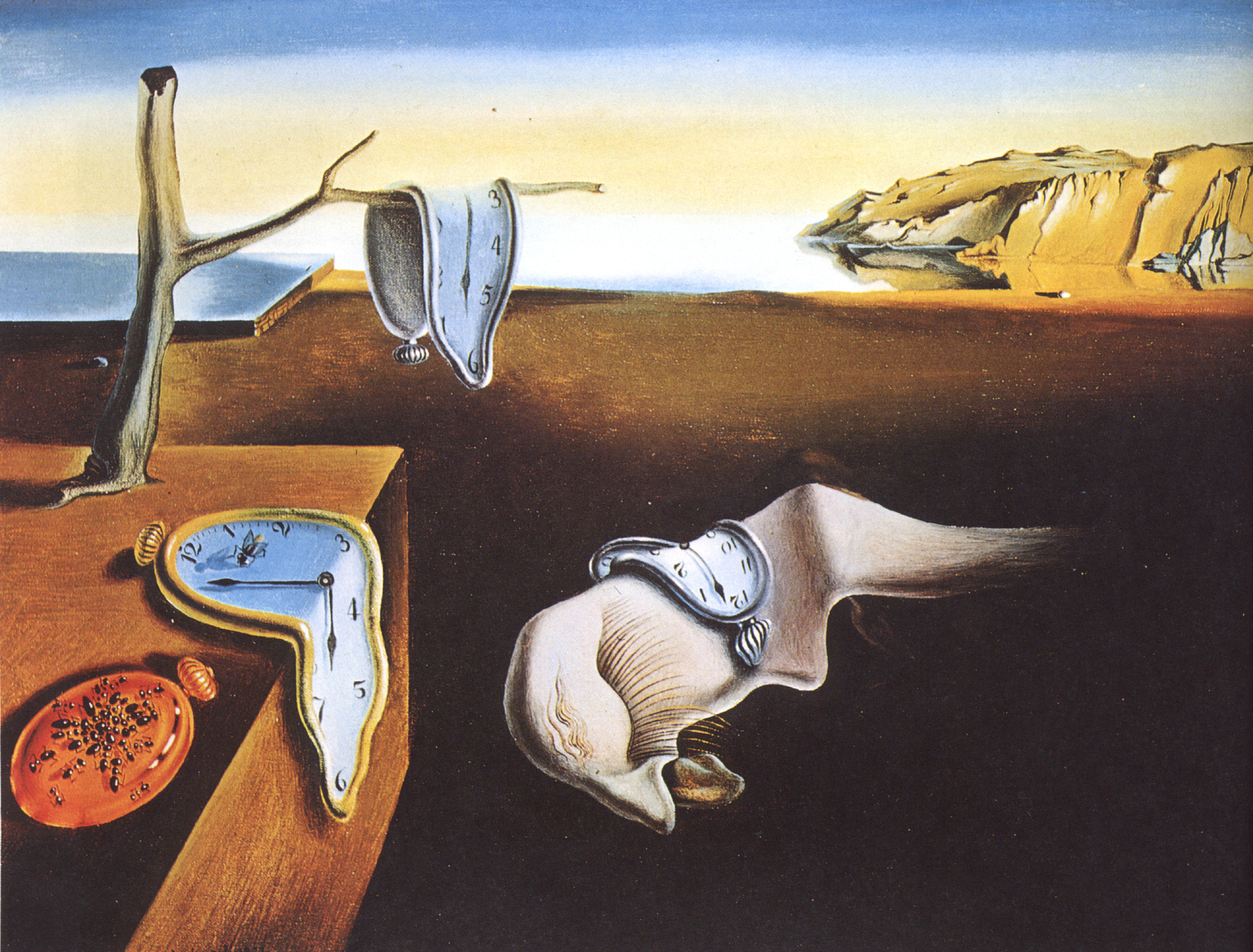 Persistence of Memory , Salvador Dali, 1971  Dali actively pursued hypnagogia to find inspiration for his paintings.