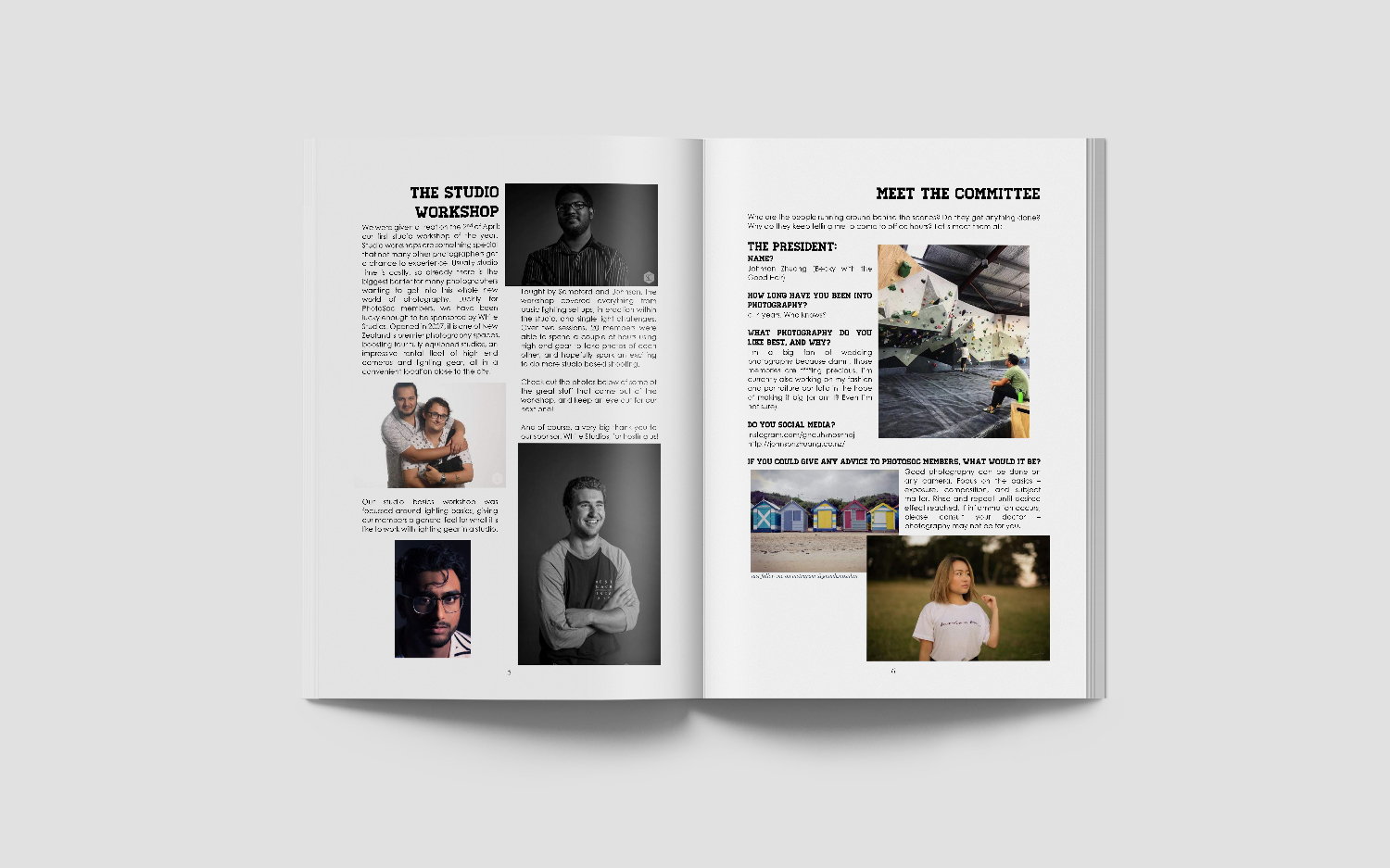 Issue 1 - April 2017WelcomeWorking as a Professional PhotographerThe Studio WorkshopMeet The Committee