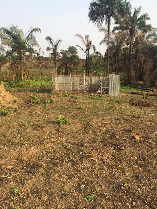 The land cleared, ready to build in 2015.