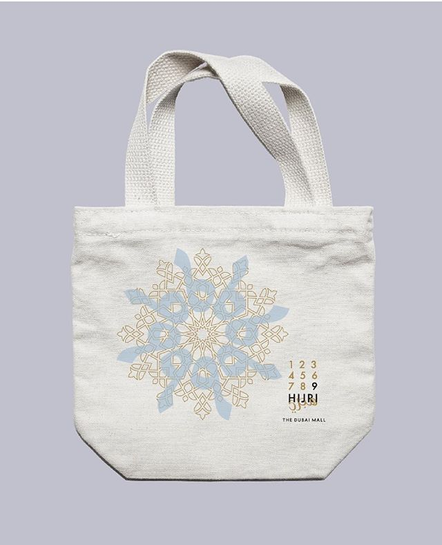Totes. Giveaway design for 9HIJRI, Ramadan at The Dubai Mall.⠀ ⠀ #r24design #eventbranding #branding #creative #logo #arabiclogos #designdetails #graphicdesign #giveaway ⠀ ⠀