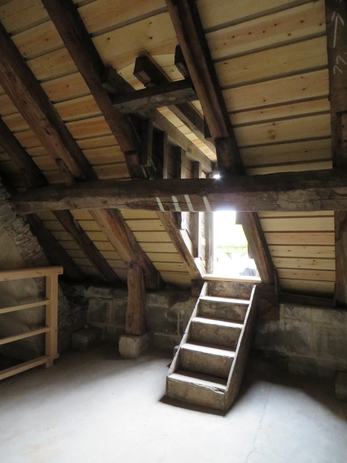 On completion: Internal roof void