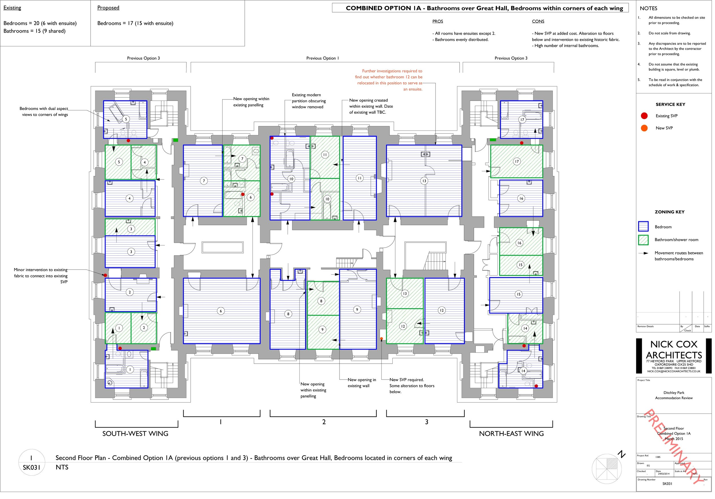 Second Floor - Extract from Feasibility Study - Options Appraisal