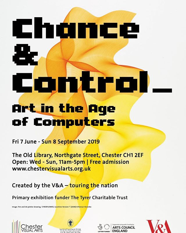 An amazing @vamuseum exhibition brought to #Chester by @chestervisualarts open all summer at the Old Library. Definitely worth a visit! . . #Chester #visualart #digital #art #exhibition #summer #Cheshire #chestervisualarts #chanceandcontrol #prints #photograph #photography #drawing #computers #gallery #library #city