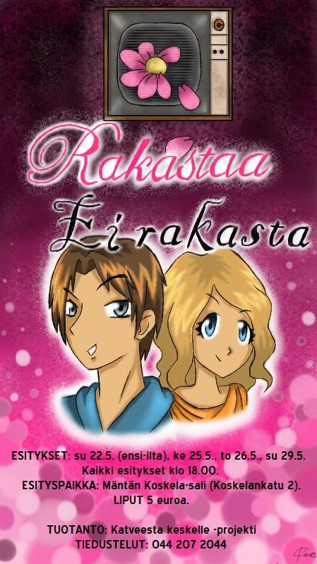 Rakastaa, ei rakasta (2011) - Yhteistyössä Katveesta keskelle -projektin kanssa.Ohjaus: Janne Salminen