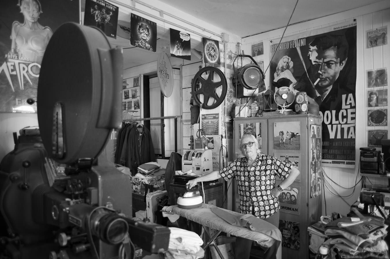 Inside the shop of Aldo Strasse.