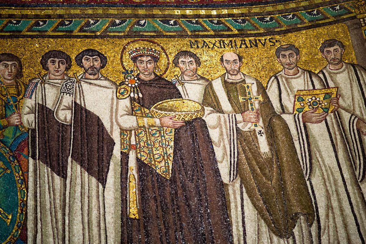 Mosaics in San Vitale, Ravenna.