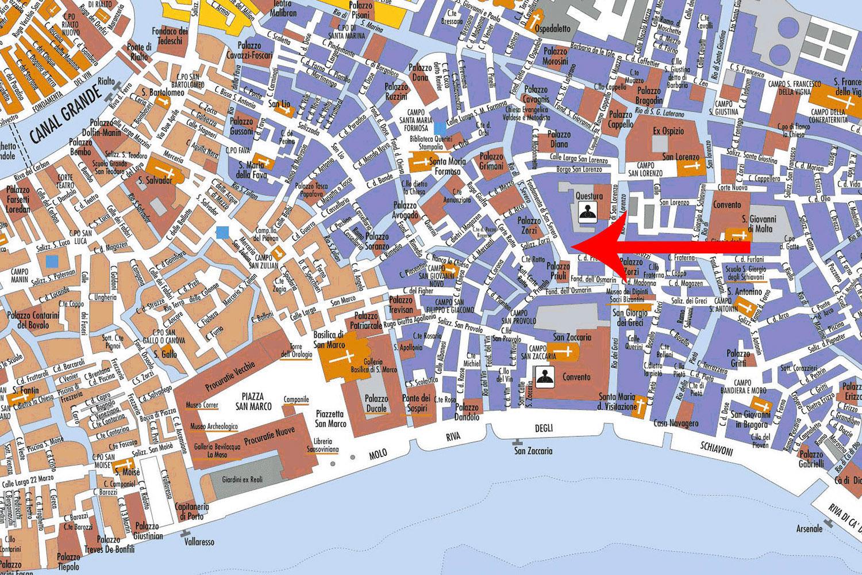 Le plan du restaurant Luna Sentada à Castello