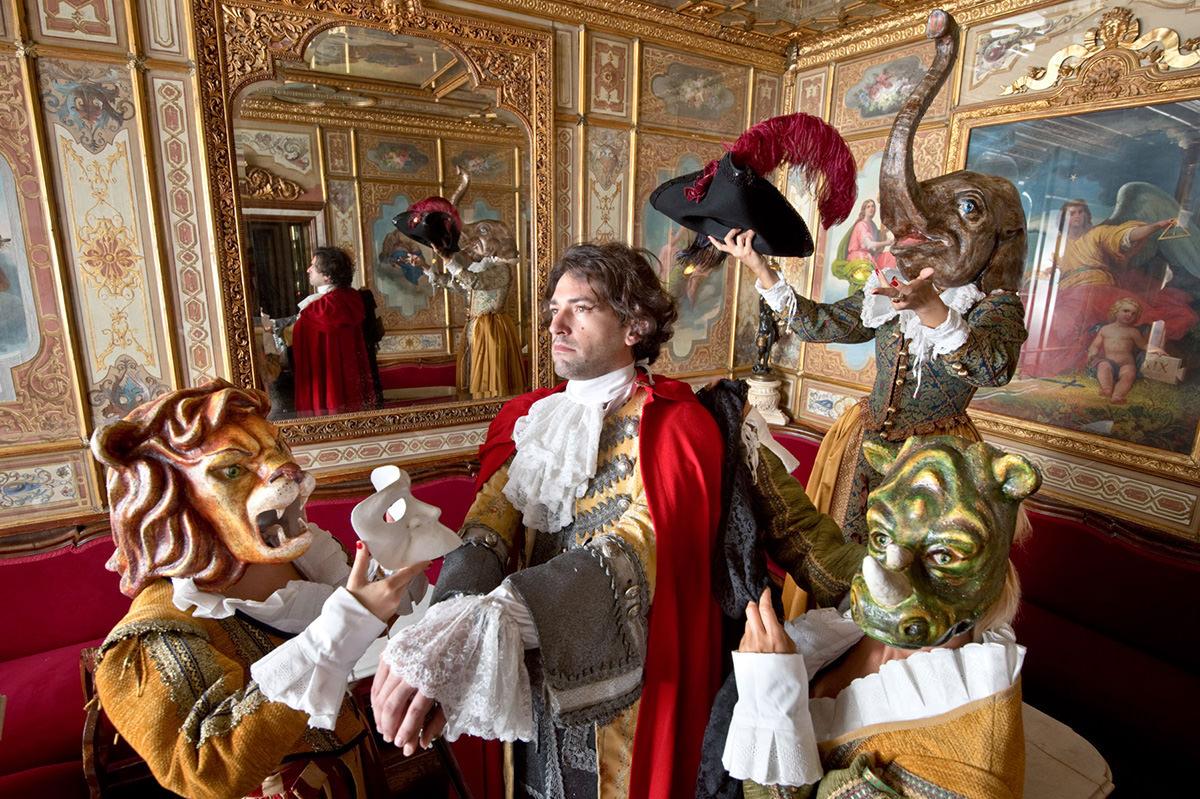 Carnival inside the Caffé Florian
