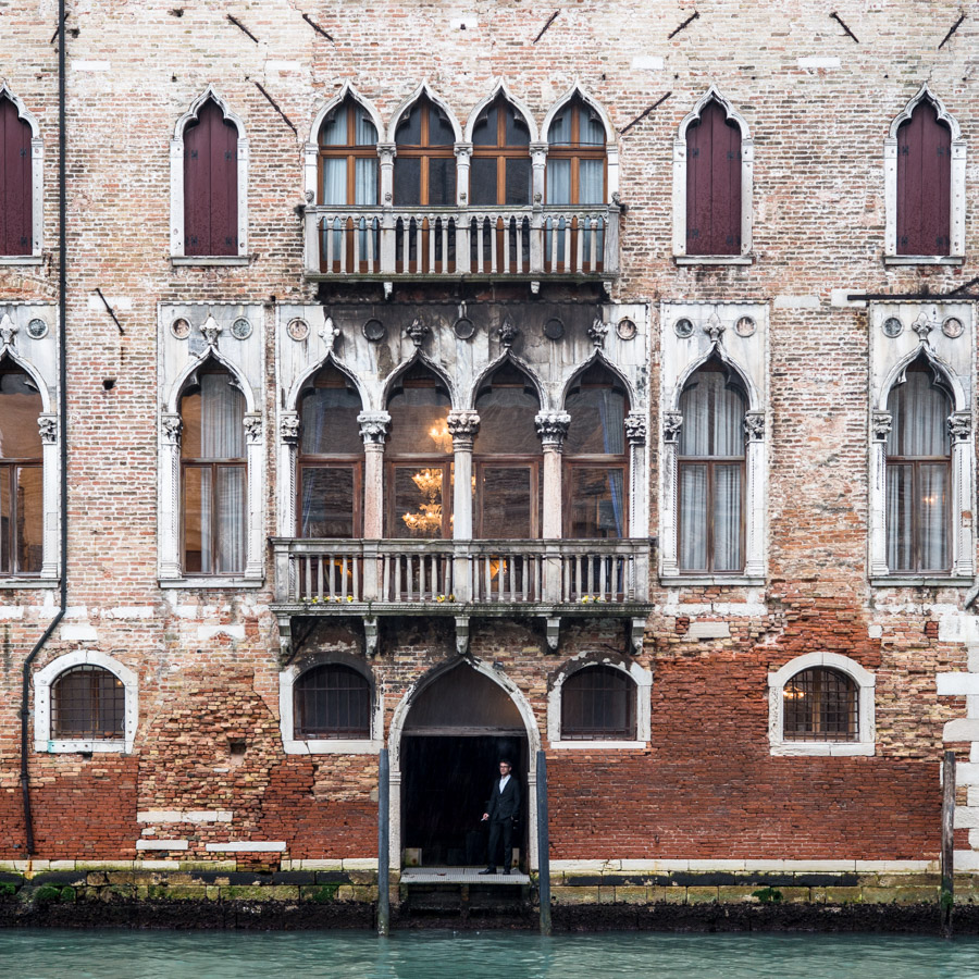 La façade d'un palais Vénitien