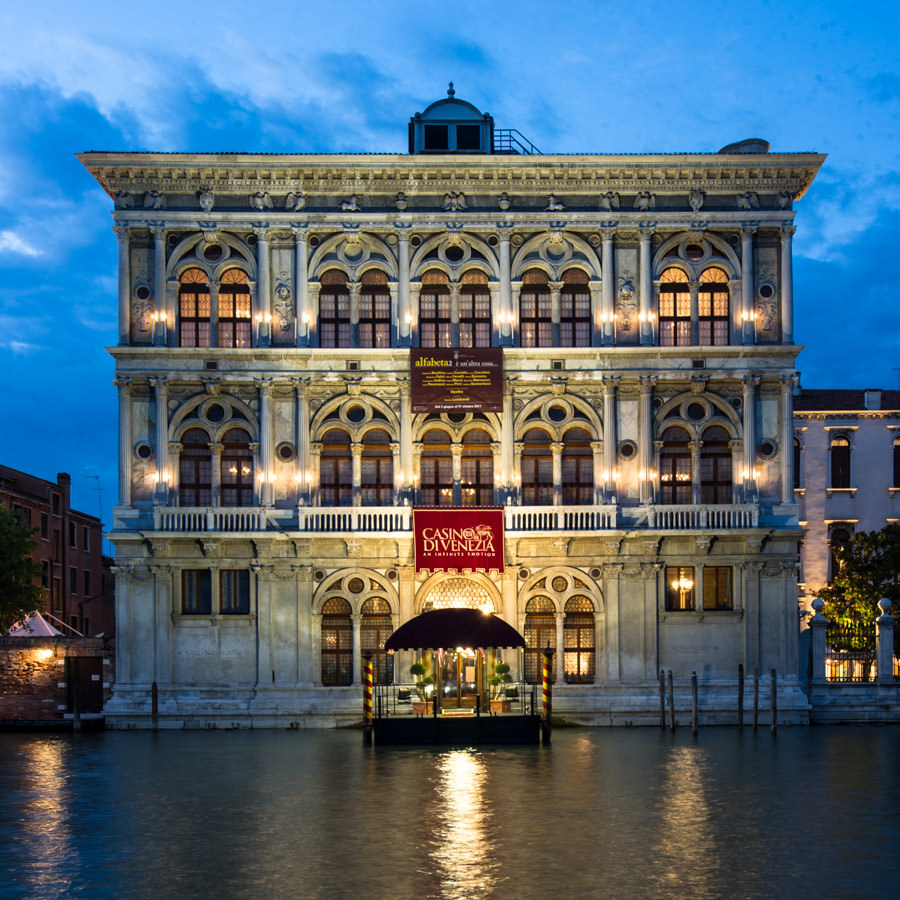 Le Le Palais Loredan Vendramin Calergi sur le Grand Canal