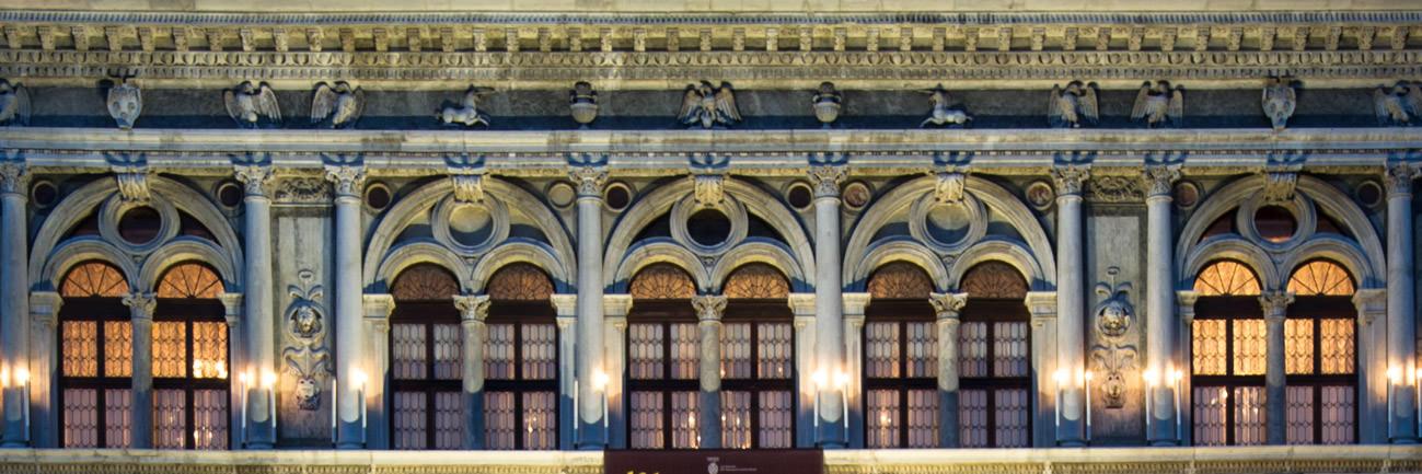 Détail de la façade du Palazzo Loredan Vendramin Calergi