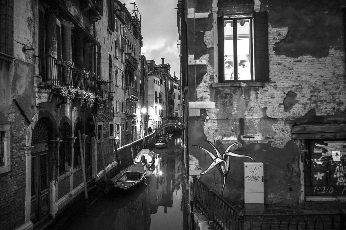 An hidden canal during the first Photo Tour in Venice on the 1st January 2018