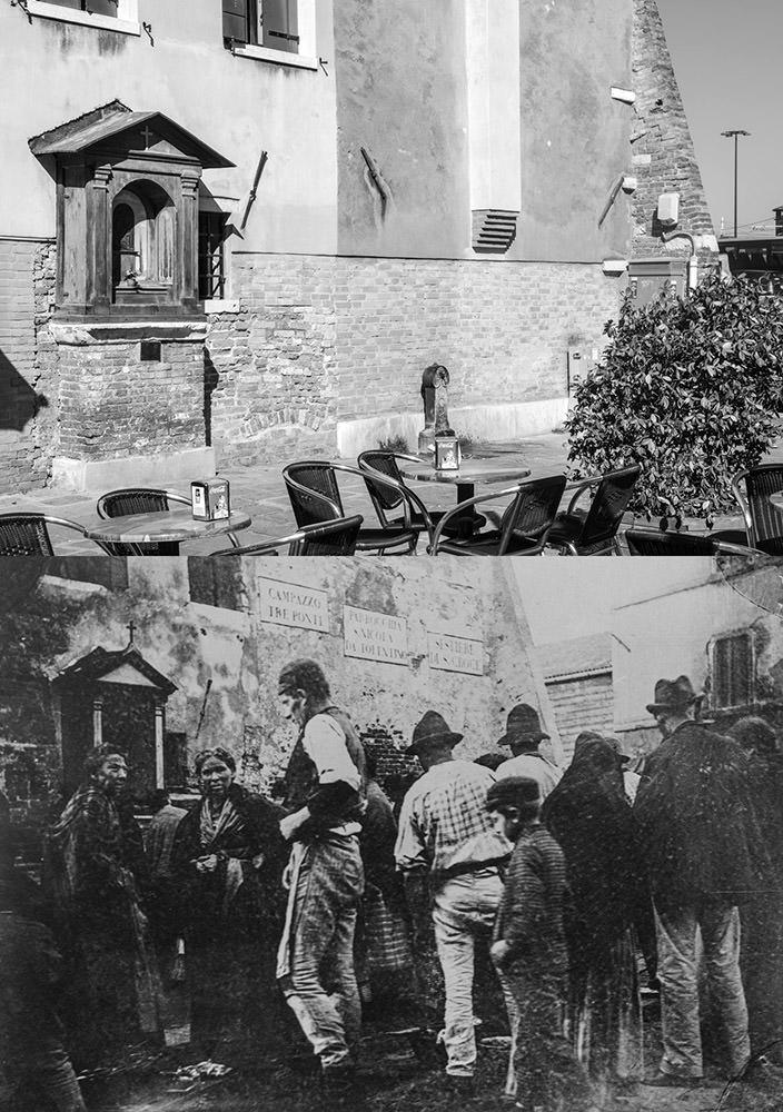 Sestiere Santa Croce oggi e nel 1889.