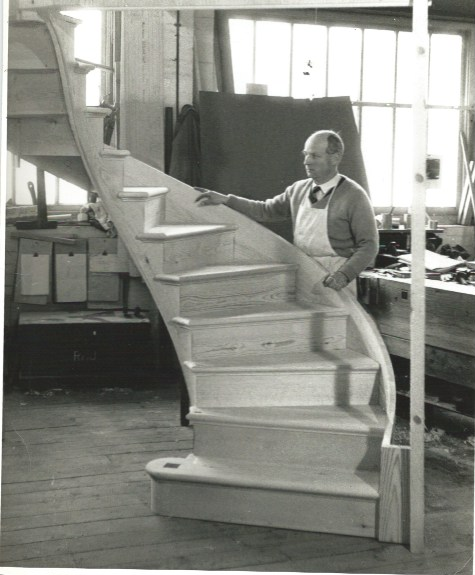 My Grandfather in his workshop