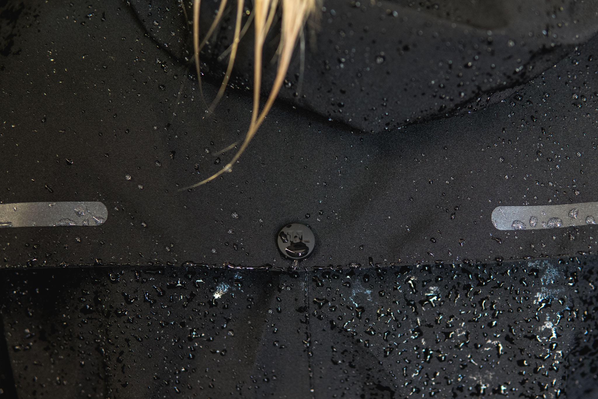 black mid length Trench wet.jpg
