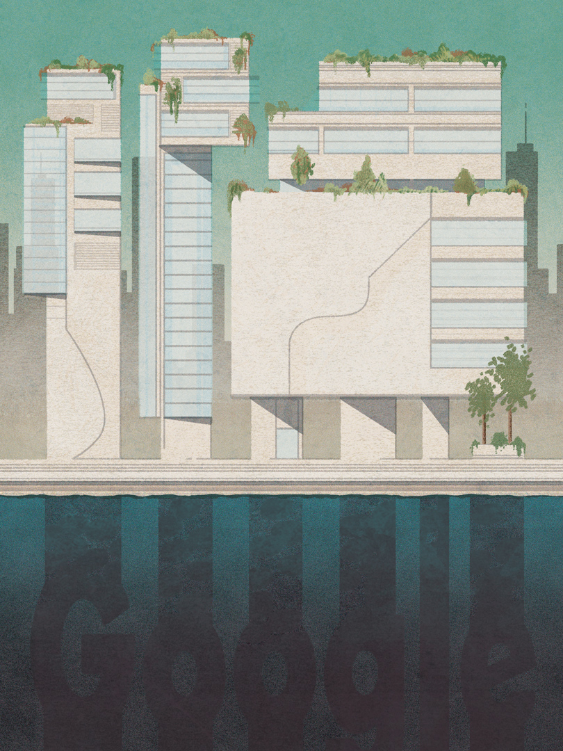 GOOGLE IS BUILDING A CITY OF THE FUTURE IN TORONTO. WOULD ANYONE WANT TO LIVE THERE?   Self initiated, unpublished Illustration for an article at Politico.com
