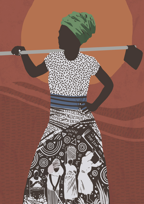 WOMAN EMPOWERMENT AND CO-OPS   Published, editorial Illustration for STIR magazine. The article is   about how women in Africa are empowered by forming co-operatives in agriculture.