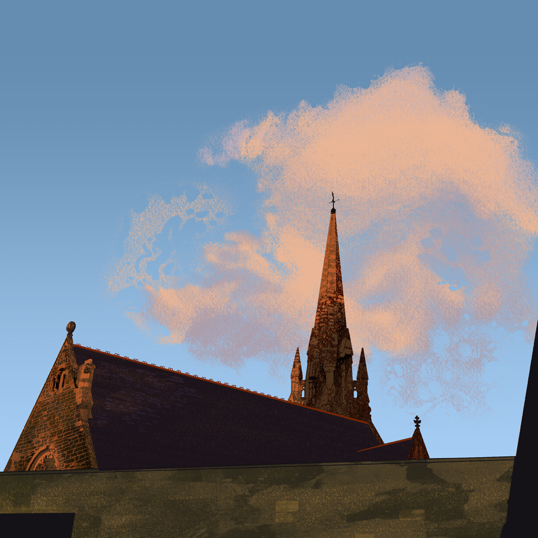 EDINBURGH SKYLINE   Self initiated, unpublished illustration