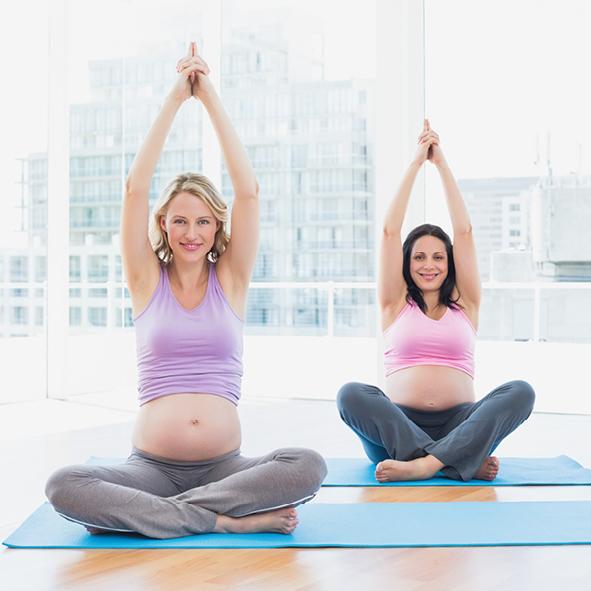 Yogaklasse SChwangerschaft