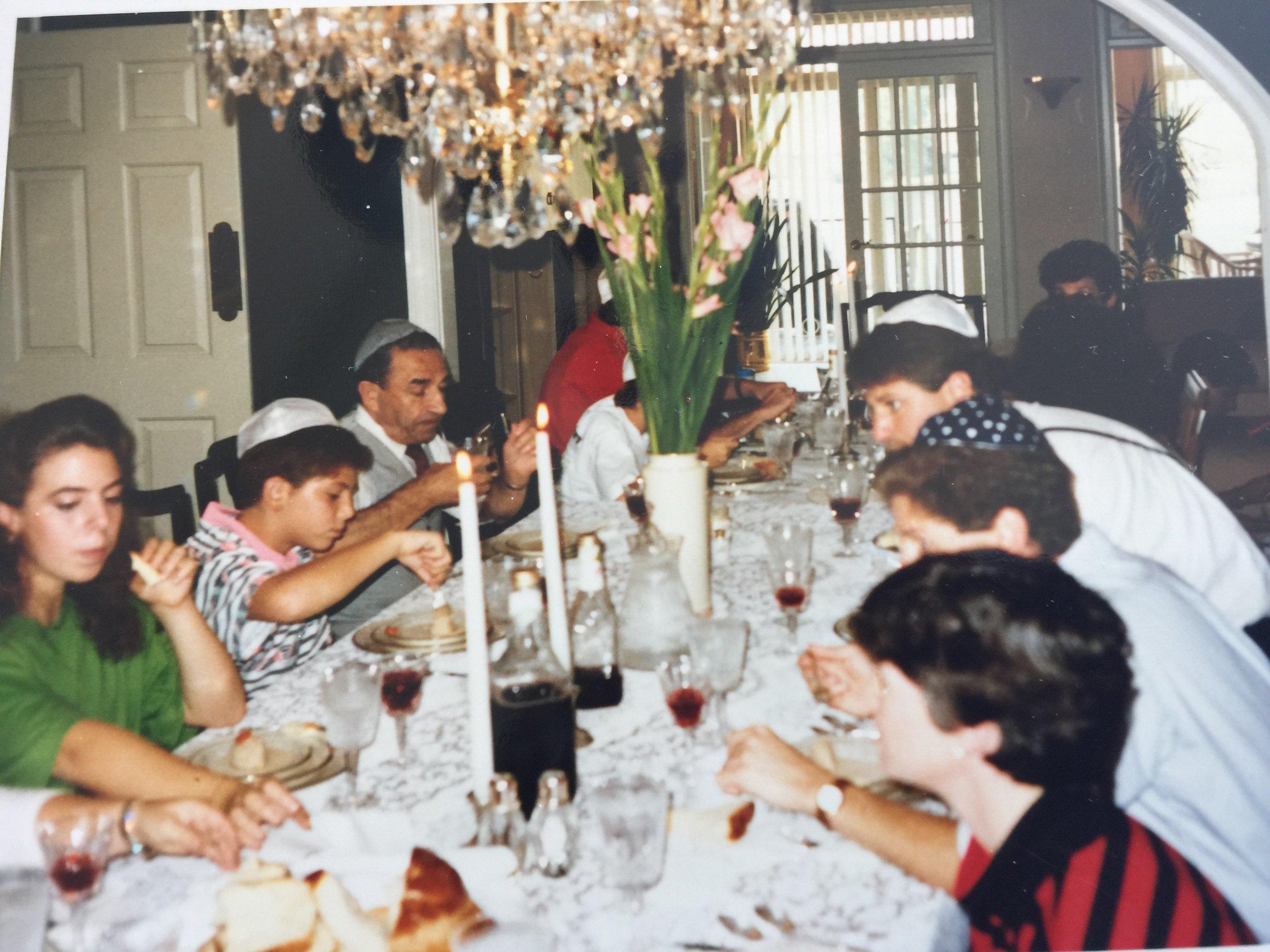 Rosh Hashanah in Filler home, 1988. Image courtesy of Lilly Stern Filler.