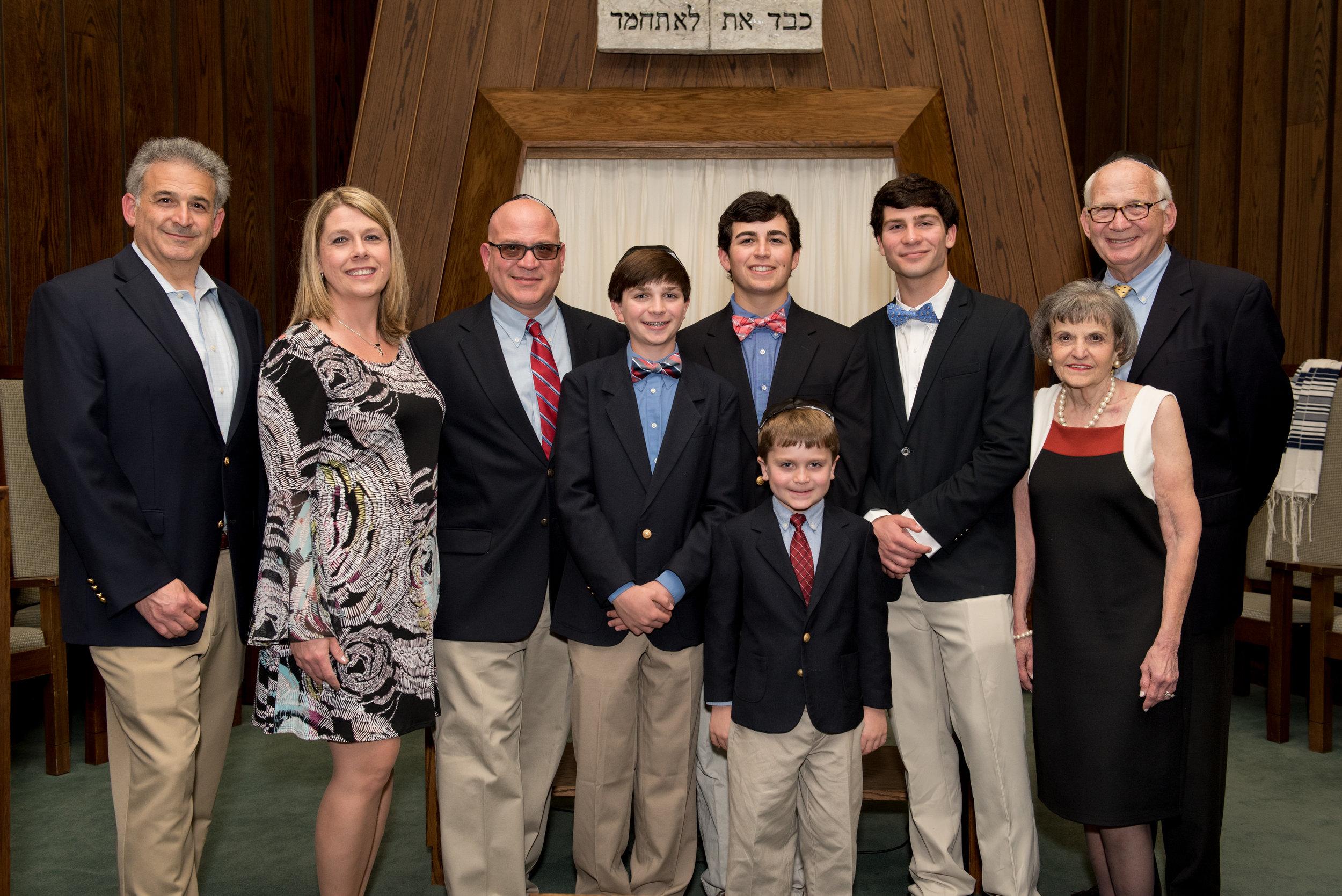 Three generations of the Stark family, including Suzi and Scrappy Stark (at far right).  Image courtesy Randy Stark