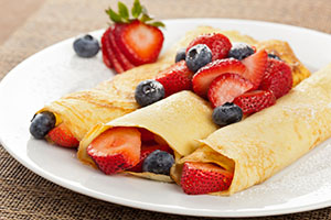Shavuot Berry Blintzes. Image Courtesy of Risa Strauss